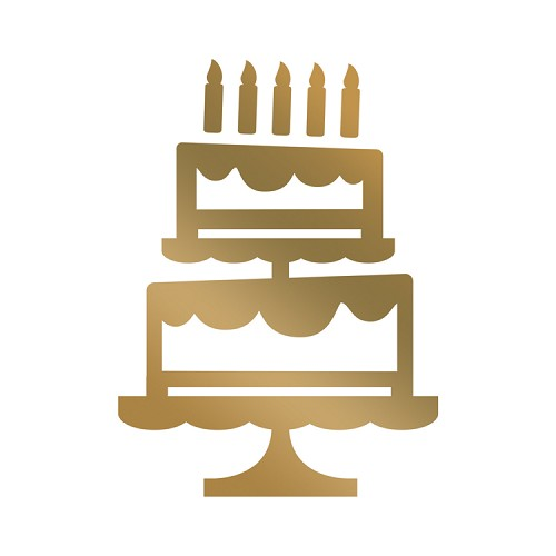 Tiered Cake Hotfoil Mini Stamp (1pc) (35 x 48mm | 1.3 x 1.8in)