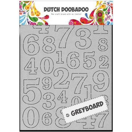 Dutch Doobadoo Dutch Greyboard cijfers A6 492.500.004 (09-18)