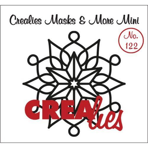 Crealies Masks & More Mini no. 122 sneeuwvlok A CLMMM122 105 x 108 mm  (09-18)