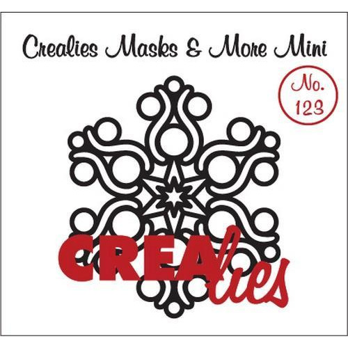 Crealies Masks & More Mini no. 123 sneeuwvlok B CLMMM123 92 x 105 mm  (09-18)