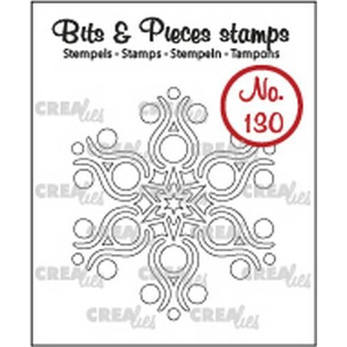 Crealies Clearstamp Bits & Pieces sneeuwvlok B CLBP130 39 x 45 mm  (09-18)