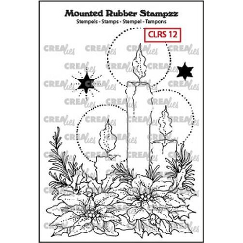 Crealies Mounted Rubber Stampzz no. 12 kaarsen CLRS12 93 x 68 mm  (09-18)
