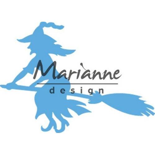 Marianne D Creatable heks op bezem LR056150 x 36 mm (10-18)