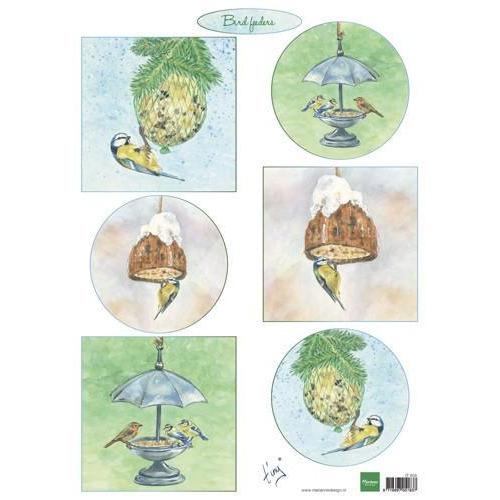 Marianne D Decoupage Tiny`s birds feeding IT604A4 (10-18)