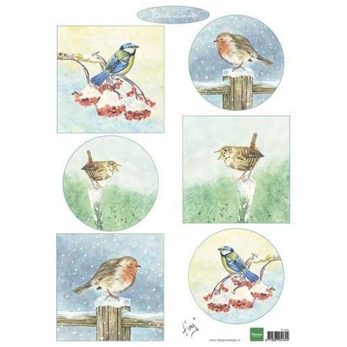Marianne D Decoupage Tiny`s birds in winter IT605A4 (10-18)
