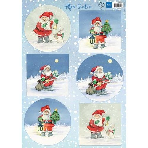 Marianne D Decoupage Hetty`s Santas HK1704A4 (10-18)