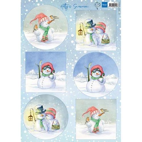 Marianne D Decoupage Hetty`s snowmen HK1705A4 (10-18)