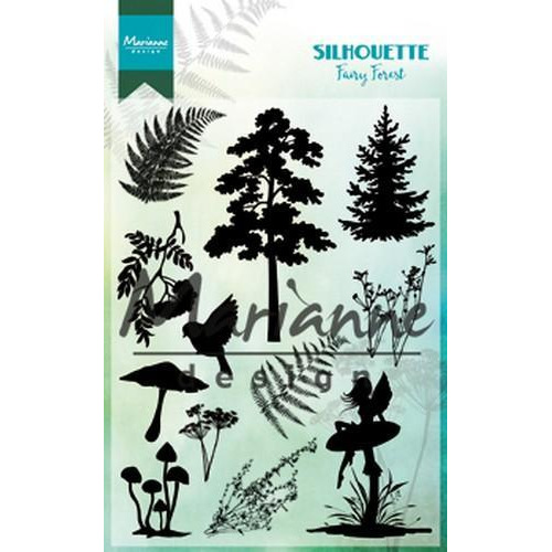 Marianne D Clear Stamp Silhouette fairy forest CS1013110 x 150 mm (10-18)