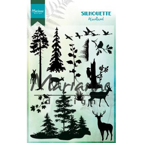 Marianne D Clear Stamp Silhouette woodland CS1014110 x 150 mm (10-18)