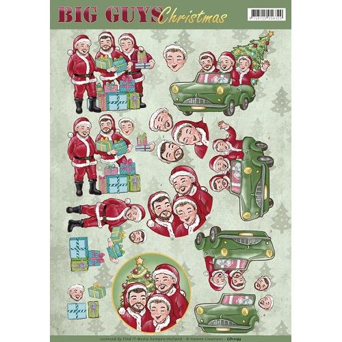3D Knipvel - Yvonne Creations - Big Guys Christmas - Santa`s
