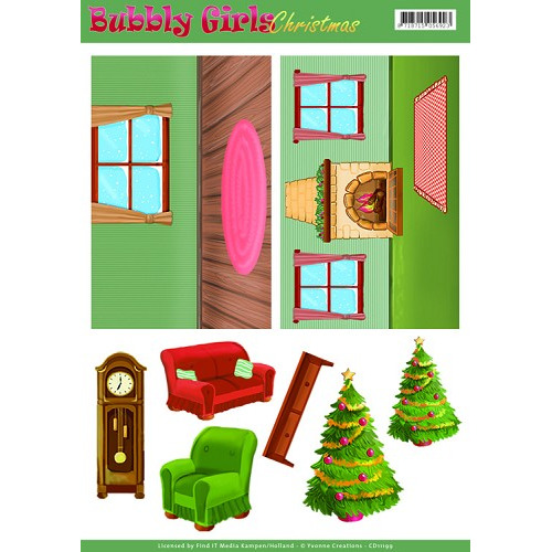 Background Sheets - Yvonne Creations - Bubbly Girls Christmas - 1