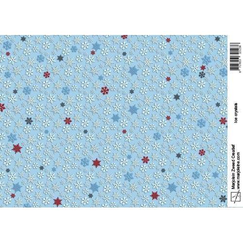 Marjoleine`s Achtergrondpapier - ice crystals A4