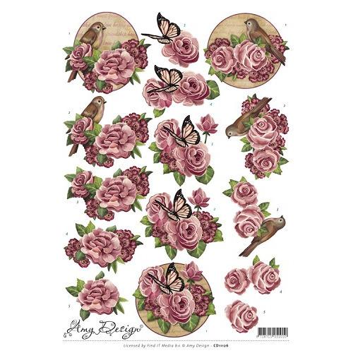3D Knipvel - Amy Design - Flowers