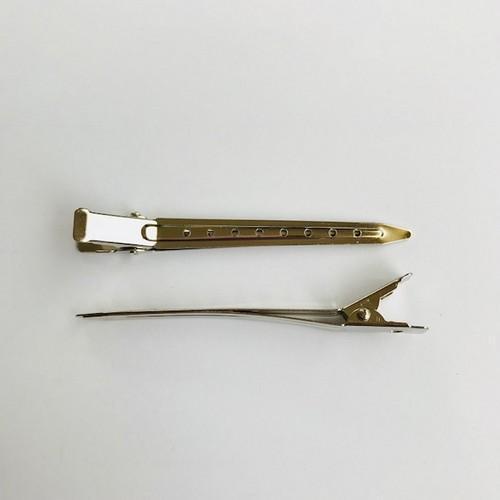 Metalen haarclip van 9 cm zilverkleur 2st 12211-1105