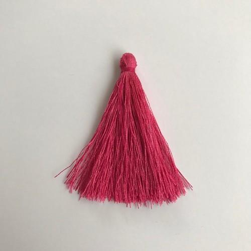 Kwastjes-tassel 65 mm donker roze 12444-4402