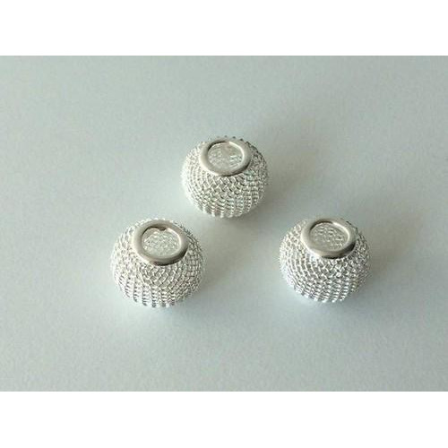 Netkralen zilverkleur 12x10 mm (gat 3,5 mm) 3st 12340-4001