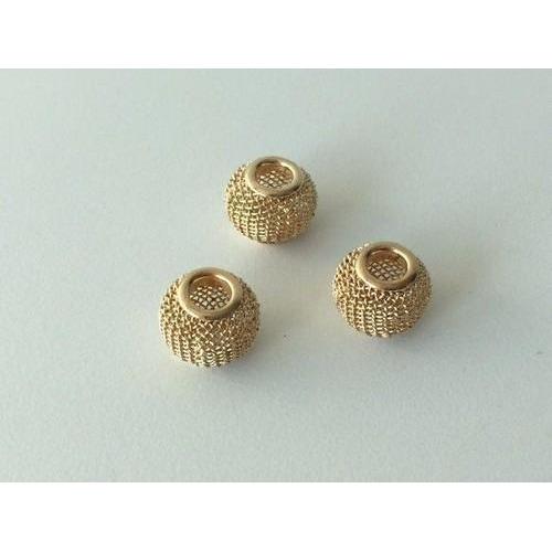Netkralen goudkleur 12x10 mm (gat 3,5 mm) 3st 12340-4003