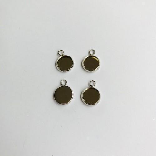 Hanger met 1 oog rond 10mm zetting (voor epoxy) 4st 12332-3213 (platinum)