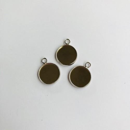 Hanger met 1 oog rond 14mm zetting (voor epoxy) 3 st 12332-3214 (platinum)