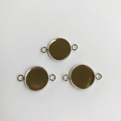 Hanger met 2 ogen rond 14mm zetting (voor epoxy) 3 st 12332-3216 (platinum)