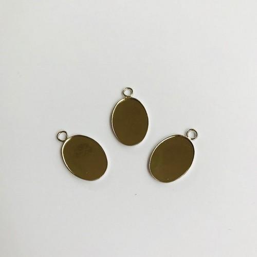 Hanger met 1 oog ovaal 18x13mm zetting (voor epoxy) 3 st 12332-3217 (platinum)