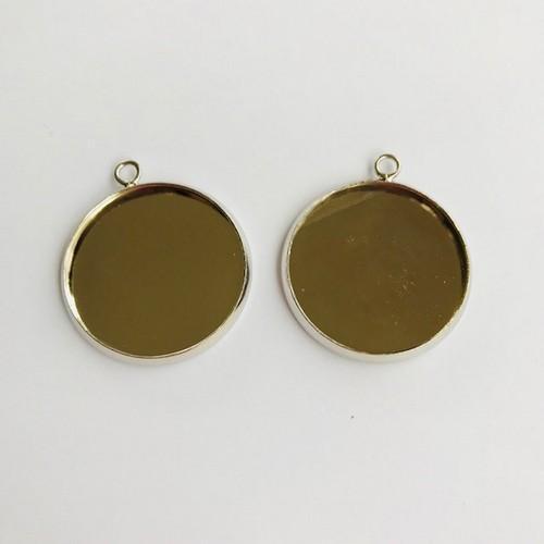 Hanger met 1 oog rond 25mm zetting (voor epoxy) 2st 12332-3221 (platinum)