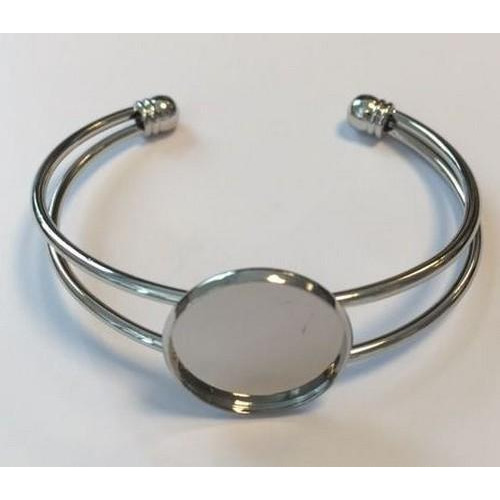 Open armband met 20 mm zetting 62x52 mm (voor epoxy) 12354-5401 (platinum)
