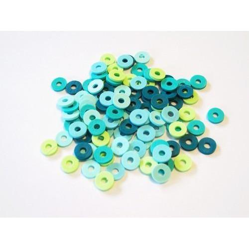 Kralen Katsuki Mix 6mm Turquoise oceaan +/- 100 st 12428-2802