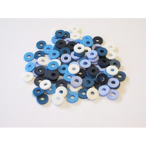 Kralen Katsuki Mix 6mm Blue jeans +/- 100 st 12428-2805