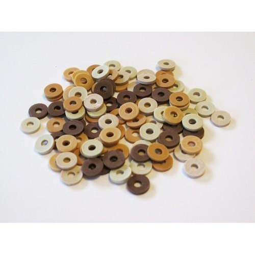 Kralen Katsuki Mix 6mm Beige / Brown woody +/- 100st 12428-2807