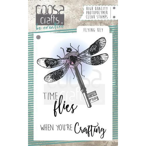 COOSA Crafts clearstamps A7 - Flying Key COC-053 (09-18)
