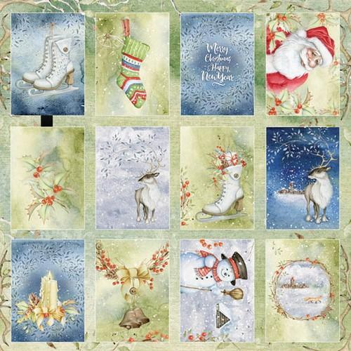 Craft&You Winter Dream sheet of elements to cut out 12X12 CP-WDR07 (09-18)