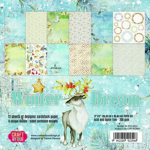 Craft&You Winter Dream Paper Set 12x12 12 vel CPS-WDR30 (09-18)