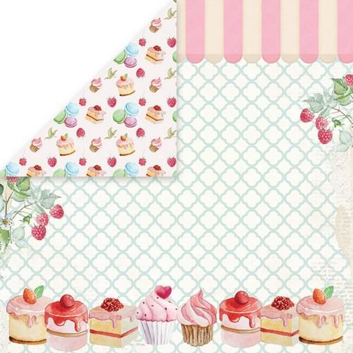 "Craft&You Sweet Dessert Scrapbooking single paper 12""x12"" CP-SD04 (09-18)"