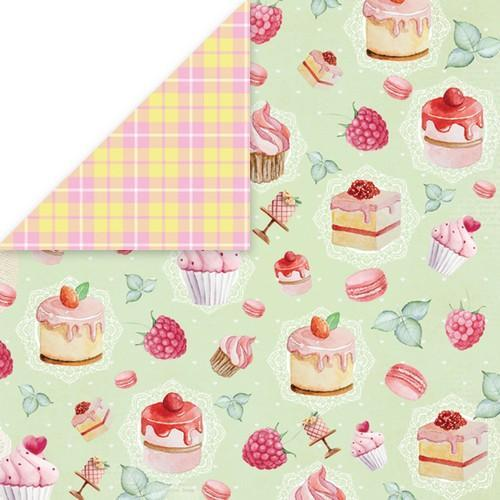 "Craft&You Sweet Dessert Scrapbooking single paper 12""x12"" CP-SD05 (09-18)"