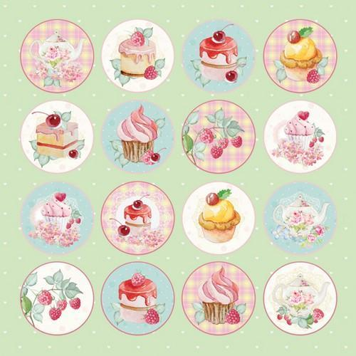 Craft&You Sweet Dessert sheet of elements to cut out 12X12 CP-SD07 (09-18)