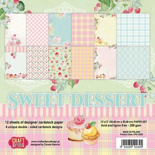 Craft&You Sweet Dessert Paper Set 12x12 12 vel CPS-SD30 (09-18)