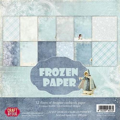 Craft&You Frozen Paper BIG Paper Set 12x12 12 vel CPS-FP30 (09-18)