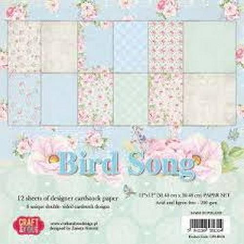 Craft&You Bird Song BIG Paper Set 12x12 12 vel CPS-BS30