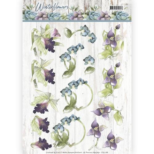 3D knipvel - Precious Marieke - Winter Flowers - Orchids