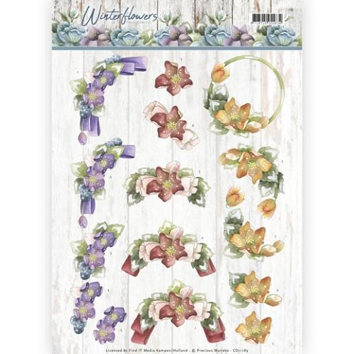 3D knipvel - Precious Marieke - Winter Flowers - Helleborus