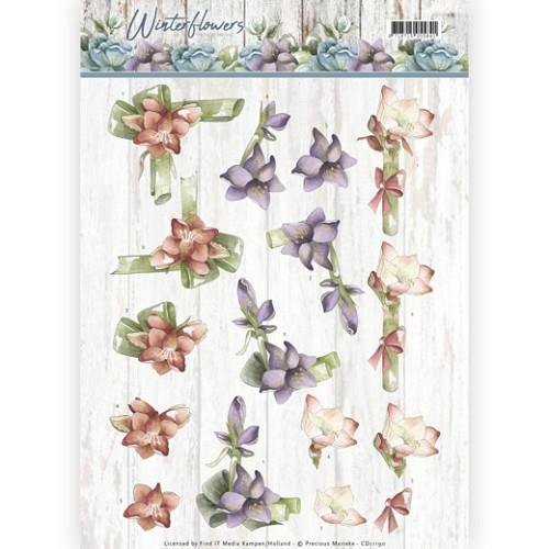 3D knipvel - Precious Marieke - Winter Flowers - Amaryllis