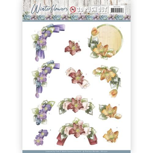 3D Pushout - Precious Marieke - Winter Flowers - Helleborus