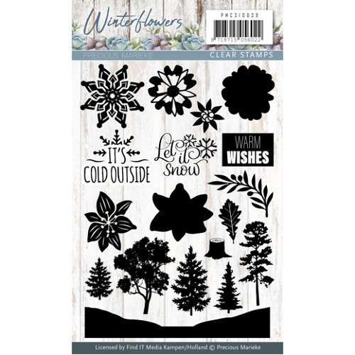 Clearstamp - Precious Marieke - Winter Flowers