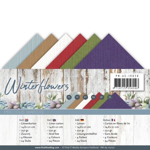 Linnenpakket - A5 - Precious Marieke - Winter Flowers