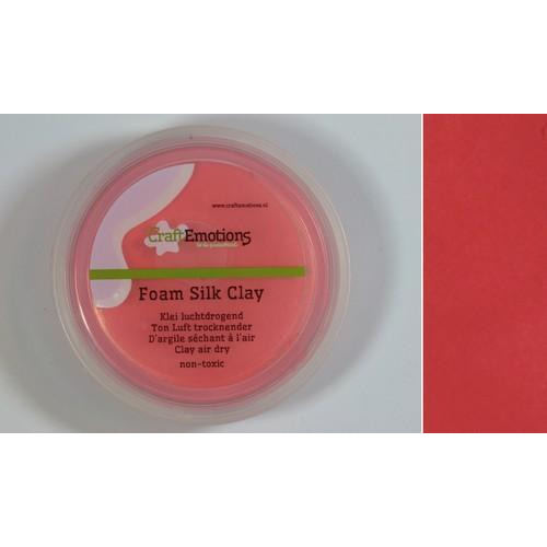 CraftEmotions Silk foam clay - rood 28gr Air dry