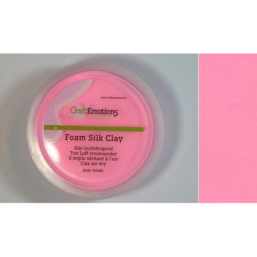 CraftEmotions Silk foam clay - roze 28gr Air dry