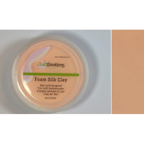 CraftEmotions Silk foam clay - huidskleur 28gr Air dry
