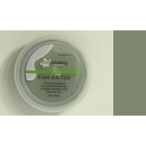 CraftEmotions Silk foam clay - grijs 28gr Air dry