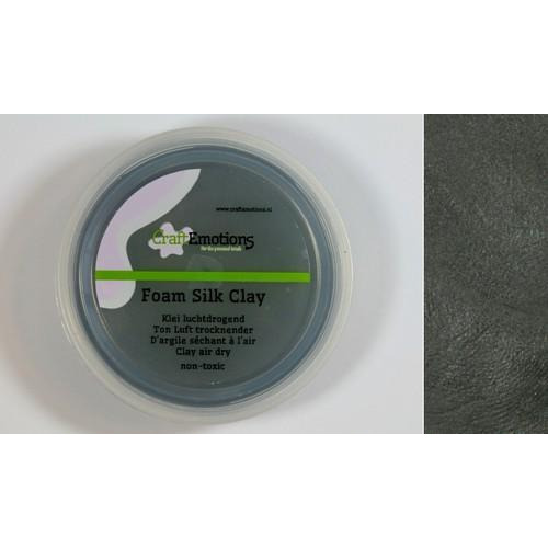 CraftEmotions Silk foam clay - zwart 28gr Air dry